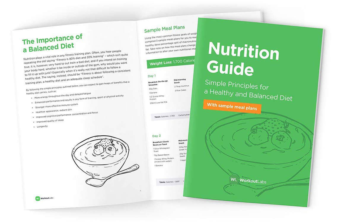 Free nutrition guide ebook when you join