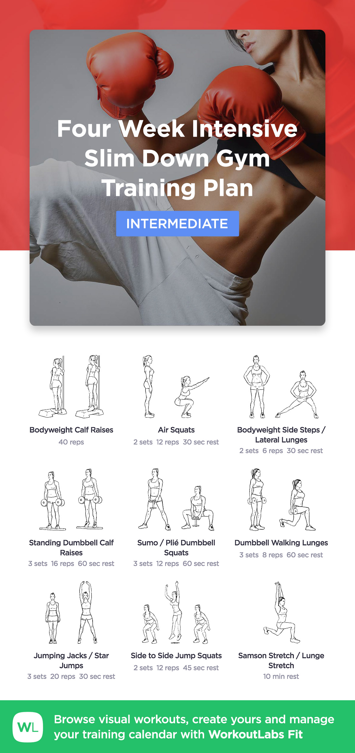 MORE WORKOUTS Four Week Intensive Slim Down