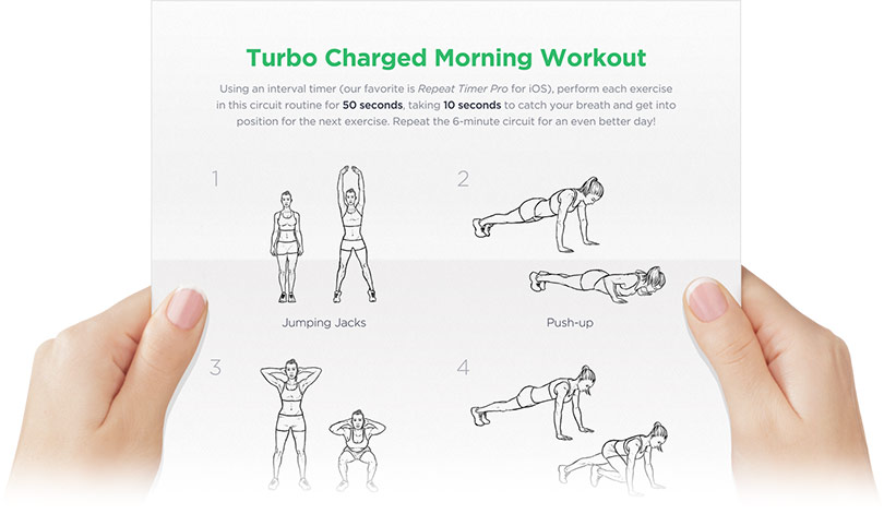 Free Printable Morning Workout for Men & Women