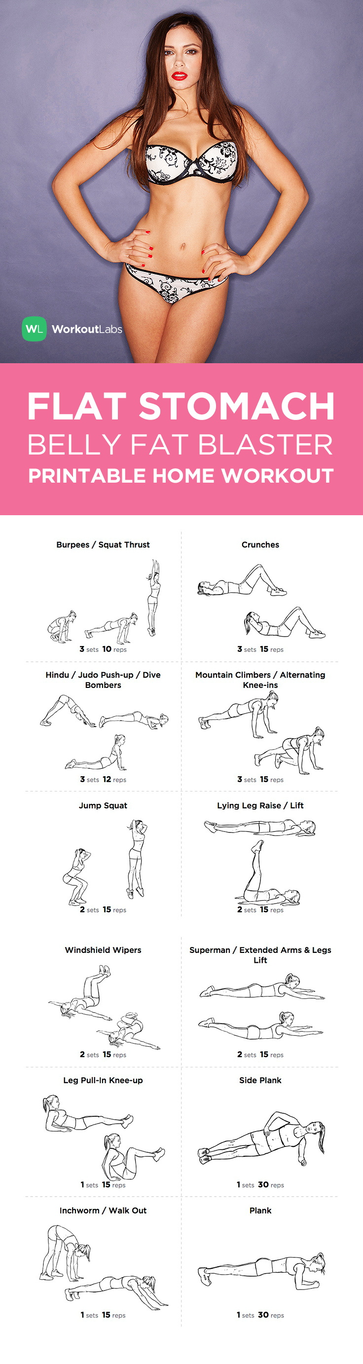 Free Pdf Flat Stomach Belly Fat Blaster At Home Workout For Women Https