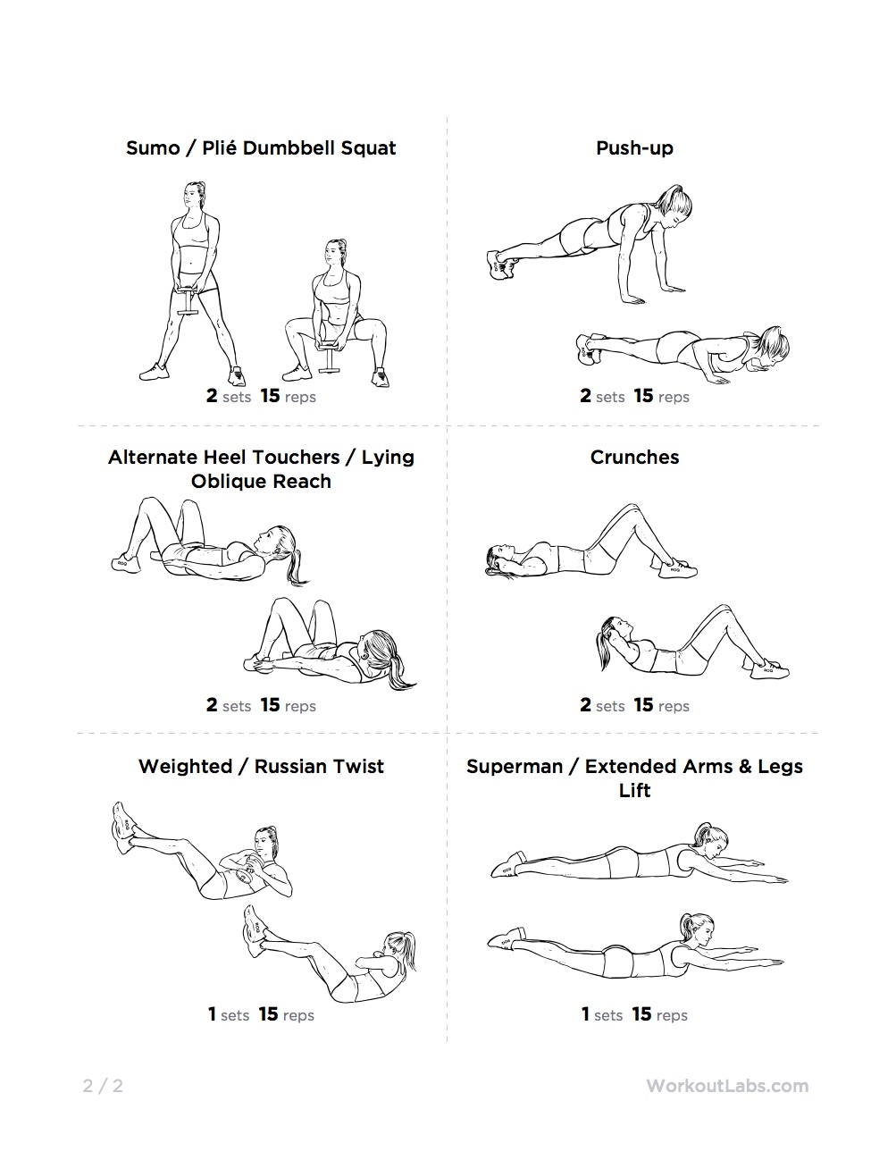 Essential Full Body Kettlebell Printable Workout For Men Women