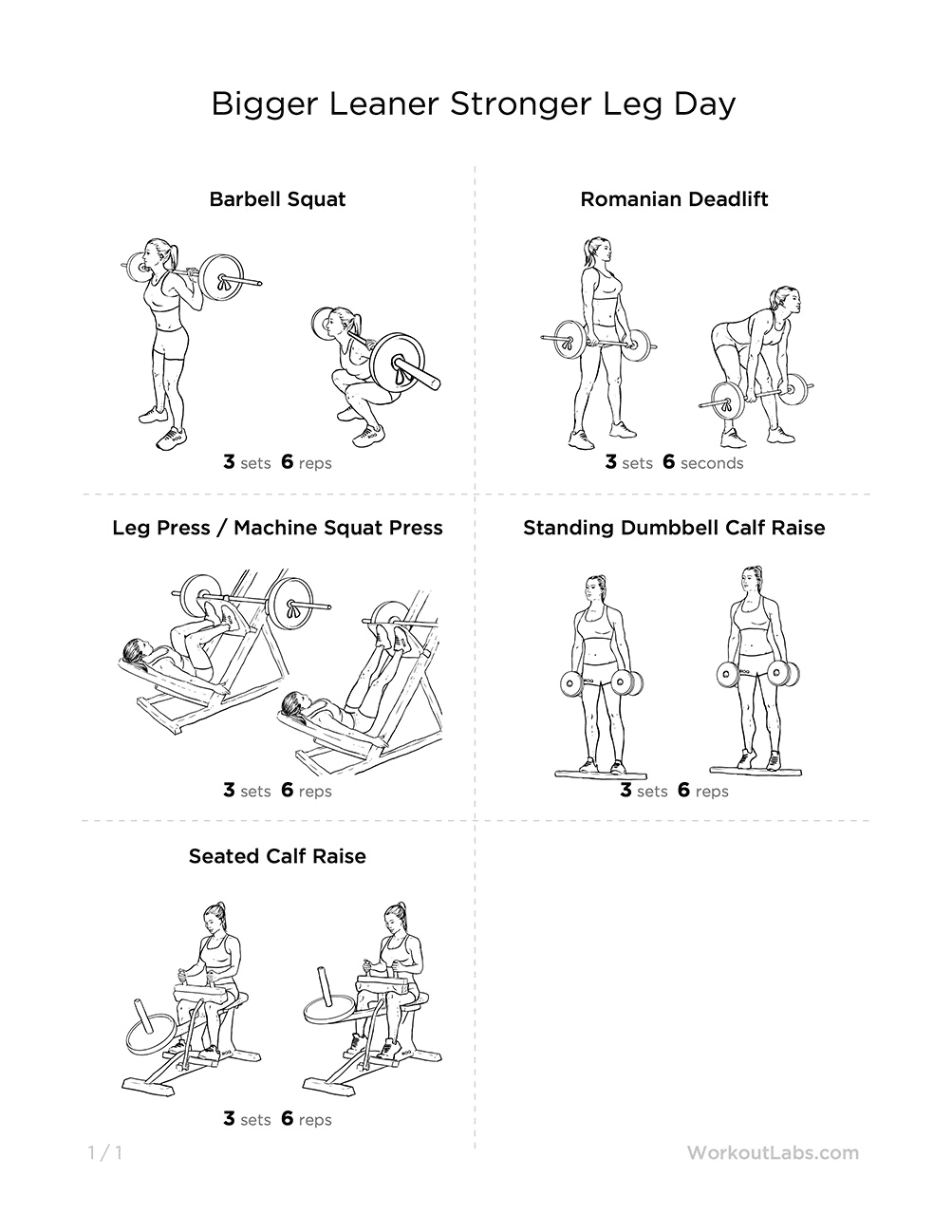 Image Result For Leg Workouts At The Gyma
