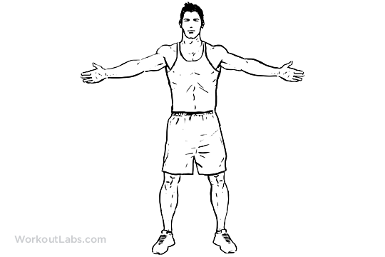 Wide Arm Chest Stretch / Reverse Butterfly Stretch | WorkoutLabs 💪