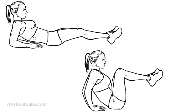 Leg Pull-In Knee-up