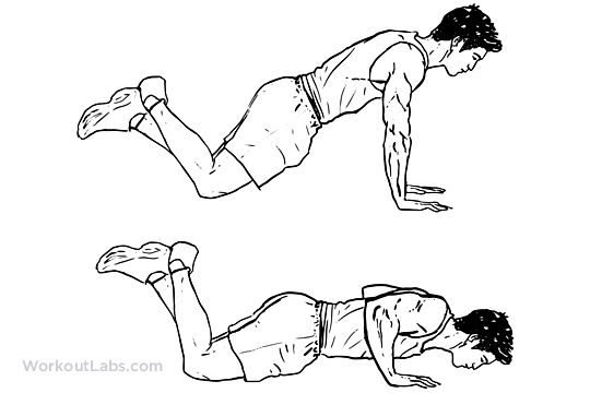 Image result for push up on knees