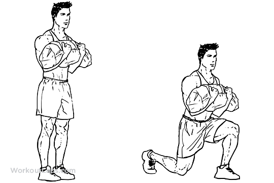 Powerbag Sandbag Lunges Workoutlabs Exercise Guide