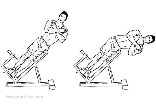 Roman Chair Hyperextension Bench Side Bends