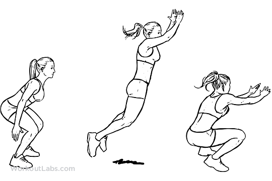 Standing Long Jump Illustrated Exercise Guide