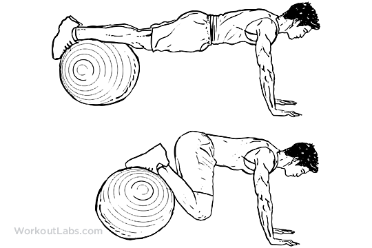 Stability Swiss Exercise Ball Knee Tuck To Chest
