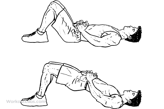 weighted glute bridge