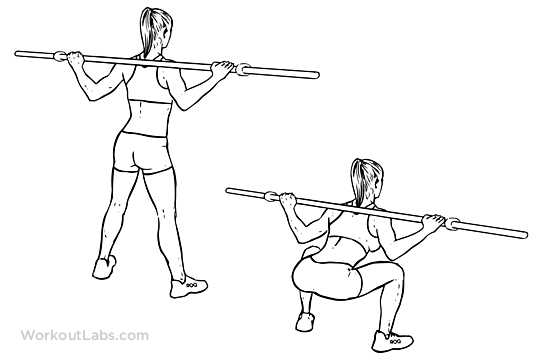 Wide Stance / Sumo Barbell Squat